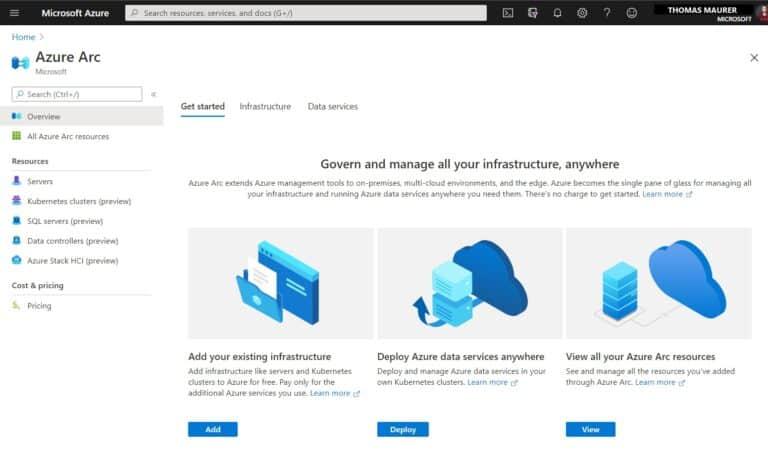 Azure Arc in the Azure Portal