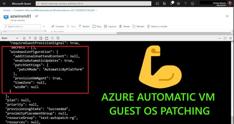 Azure Automatic VM Guest OS Patching