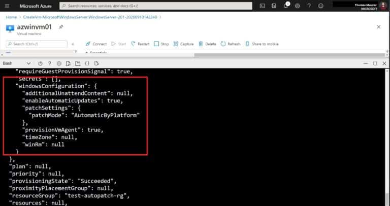 Azure Automatic VM Guest OS Patching Status