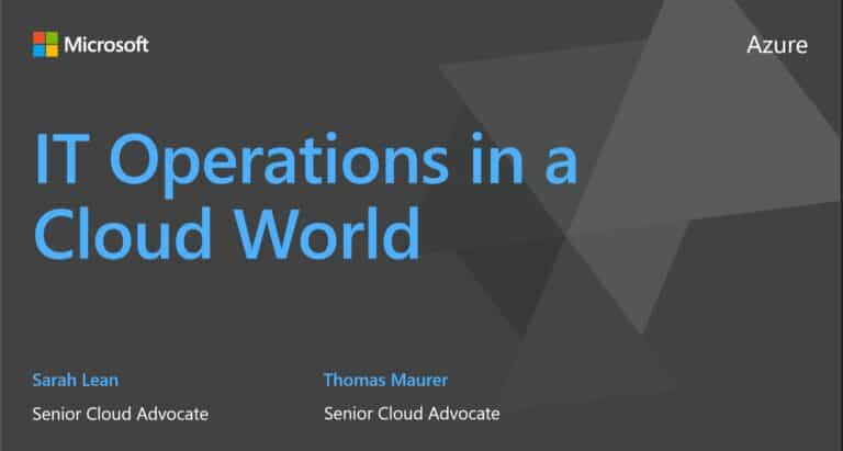 Speaking at Microsoft Ignite 2020 about IT Pros in a Cloud World