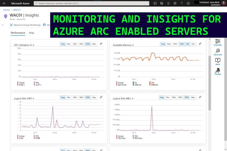 Monitoring and Insights for Azure Arc enabled Servers and Azure Monitor