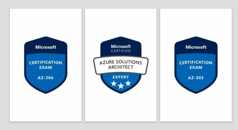 Passed AZ-303 and AZ-304 Microsoft Certified Azure Solutions Architect