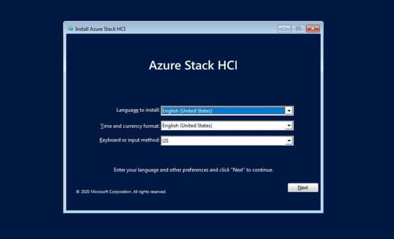 Install Azure Stack HCI