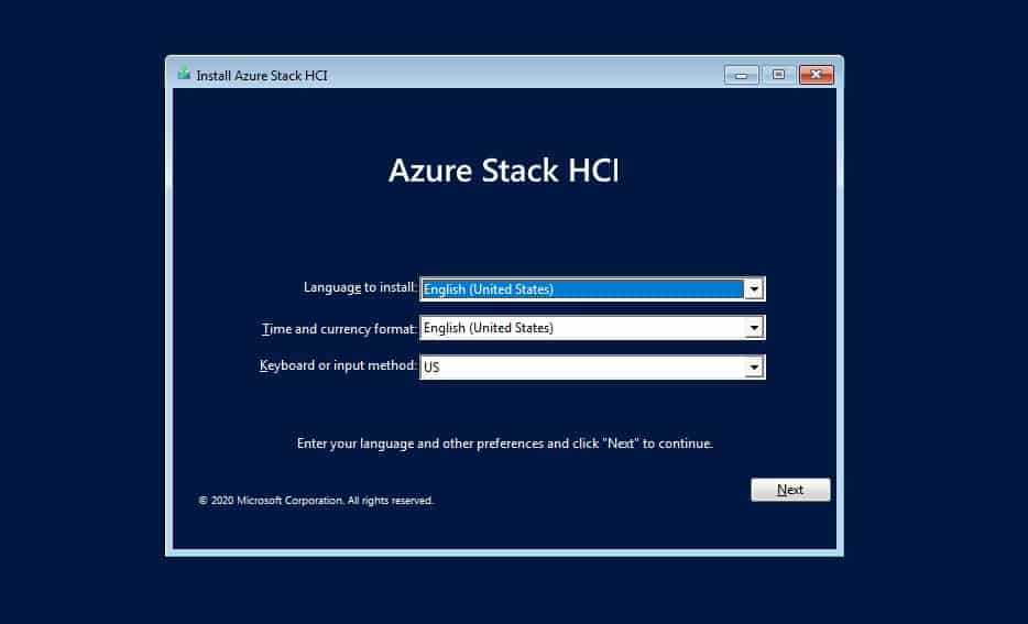 Install Azure Stack HCI