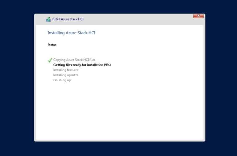 Installing Azure Stack HCI host