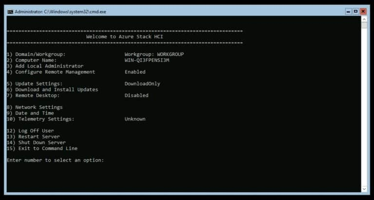 Welcome to Azure Stack HCI sconfig