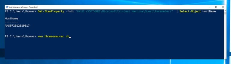 Get physical hostname of a Hyper-V VM using PowerShell