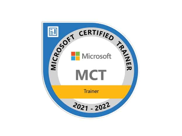 Microsoft Certified Trainer MCT 2021-2022
