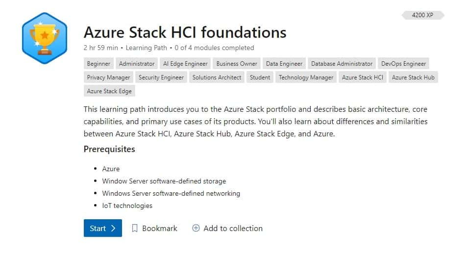 Microsoft Learn Azure Stack HCI foundations