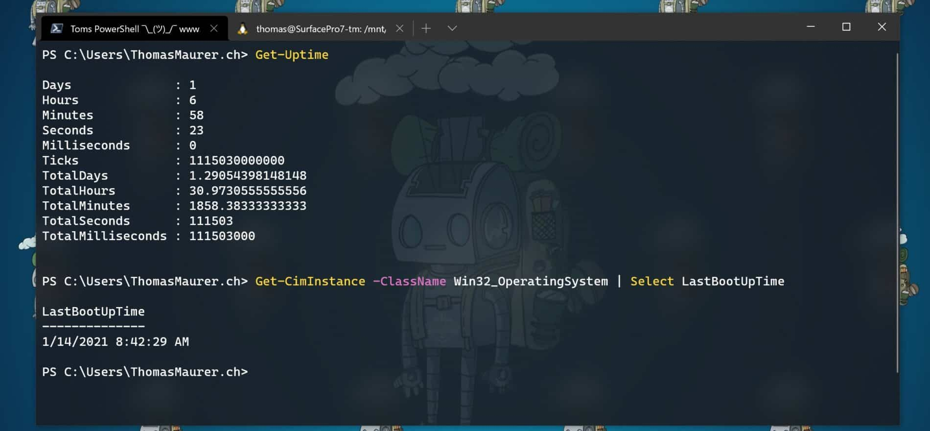 Get System Uptime with PowerShell