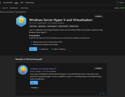 Microsoft Learn Windows Server Hyper-V and Virtualization