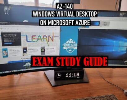 AZ-140 Exam Study Guide Windows Virtual Desktop WVD on Microsoft Azure