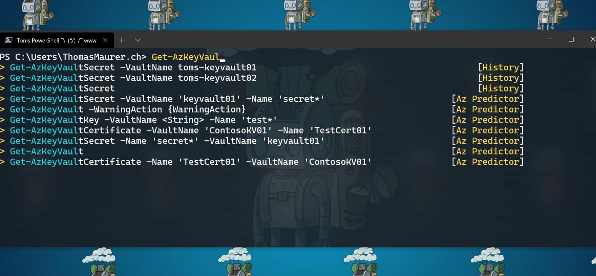 Azure PowerShell Az Predicorl ListView