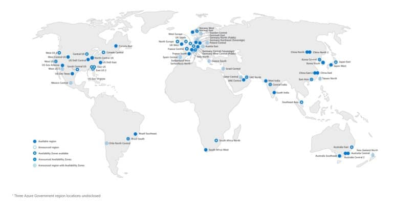 Azure geography and Azure Regions