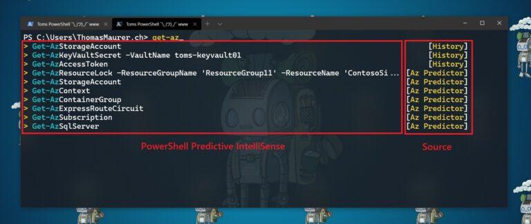 PowerShell Predictive IntelliSense ListView