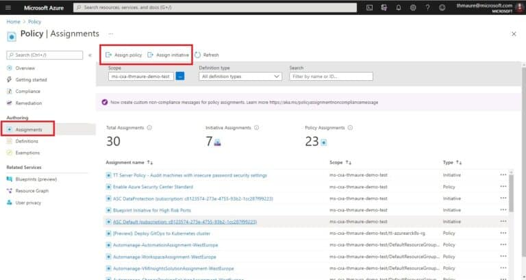 Assign Azure Policy Guest Configuration
