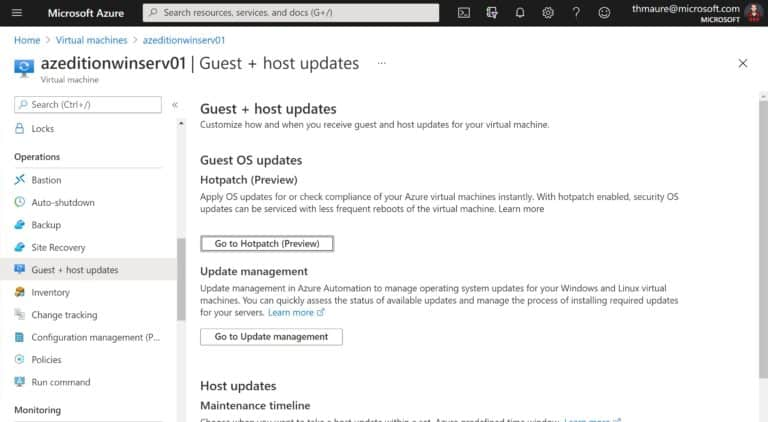 Azure VM Guest and host updates