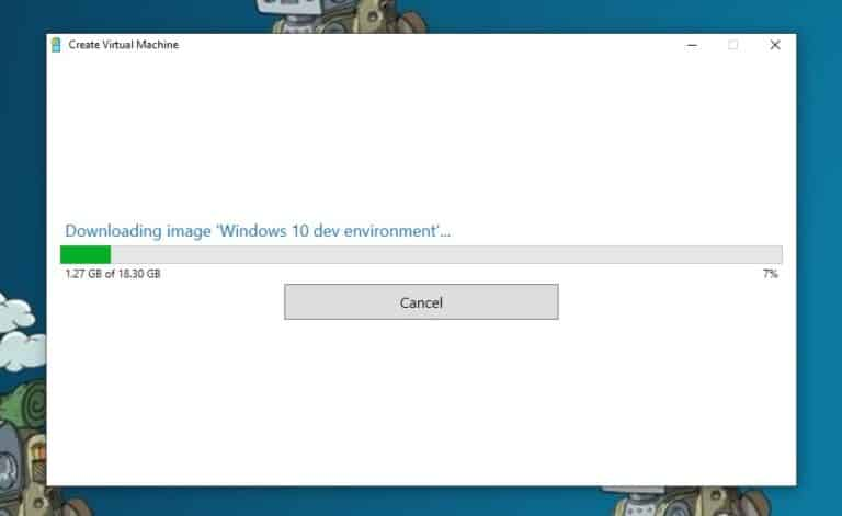 Download Windows 10 dev environment VM