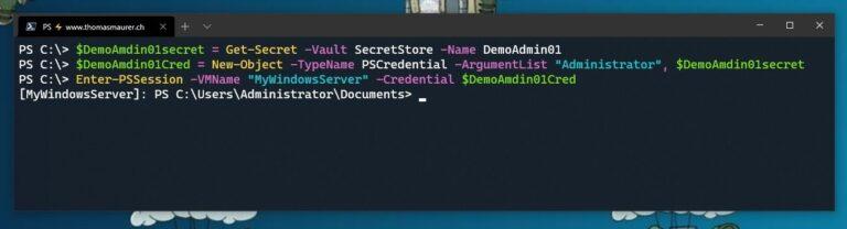 Use Secret Store Credentials