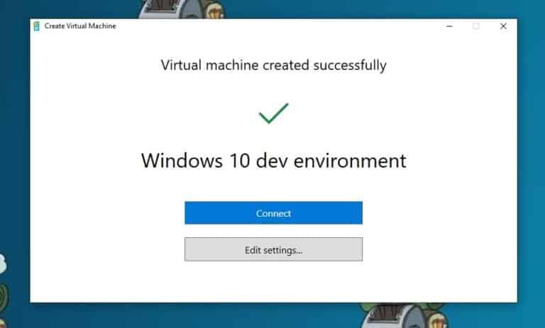 Virtual machine created successfully