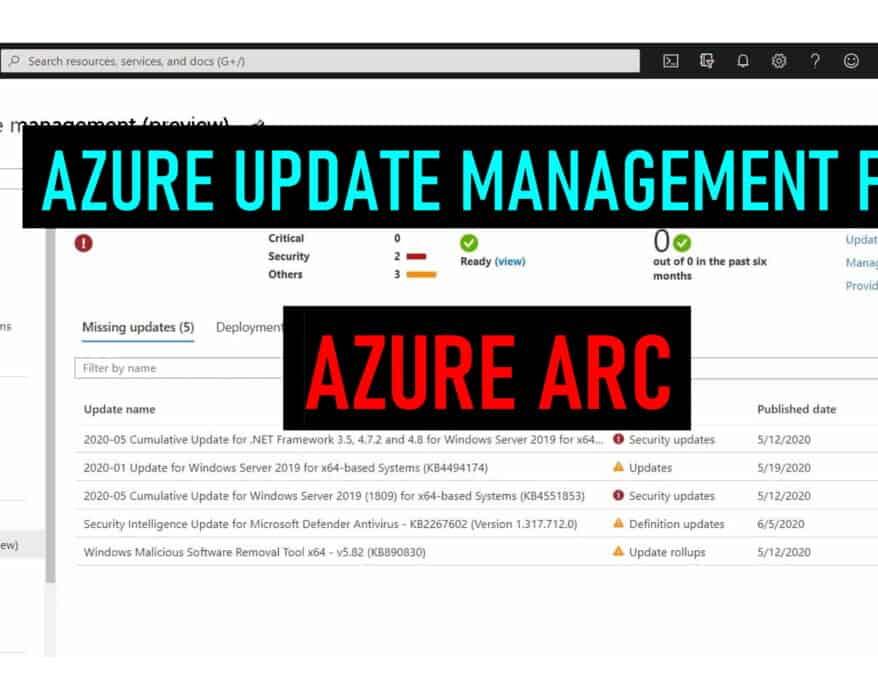 Manage updates of servers using Microsoft Azure using Azure Arc