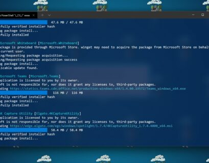 Install Azure Tools using command line WinGet PowerShell