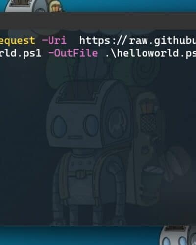 PowerShell Download script or file from GitHub