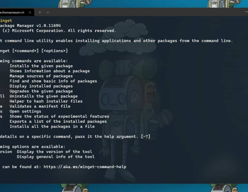 Windows Package Manager WinGet CLI