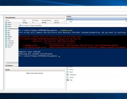 Hyper-V host already registered to Azure Recovery Vault