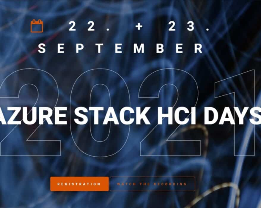 Azure Stack HCI Days 2021