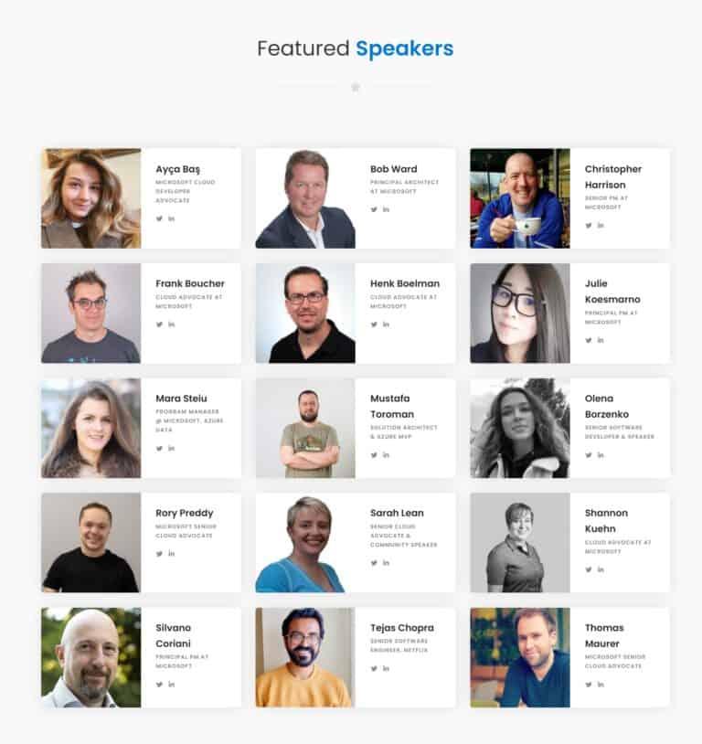Cloud Summit 2021 featured speakers