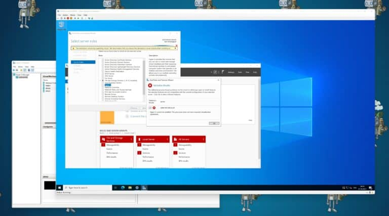 Hyper-V cannot be installed The processor does not have required virtualization capabilities